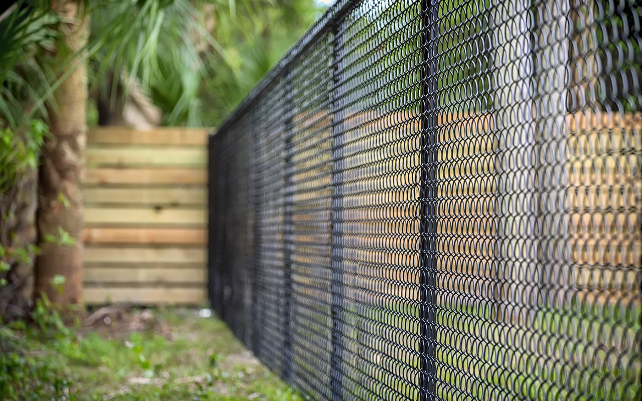 Black Chain Link Fence